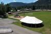 Event tent at Roosevelt Park in Troy Montana